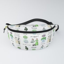 Pride and Prejudice and Topiary  Fanny Pack