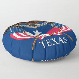 Texas flag and eagle crest concept Floor Pillow
