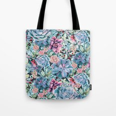 Succulents - For the Memory of a Never-ending Love Tote Bag