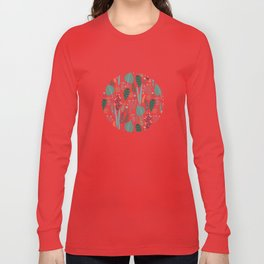 Early Spring Thaw In The Flower Garden Pattern Long Sleeve T-shirt