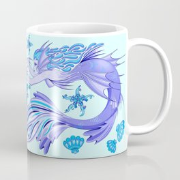 Mystic Mermaid Fairy Purple Creature Coffee Mug