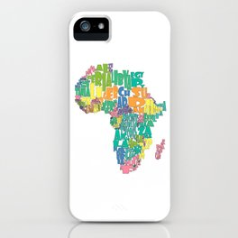 African Continent Cloud Map In Pastels iPhone Case