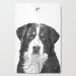 Black and White Bernese Mountain Dog Cutting Board
