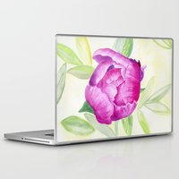 peony Laptop & iPad Skins featuring Peony by my first palette
