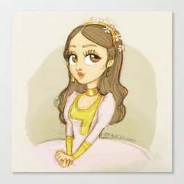 Emirati Princess with a golden chocker Canvas Print