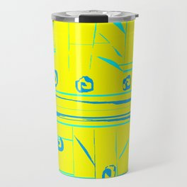 Abstract Yellow Turquoise Travel Mug
