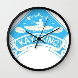 Kayak Canoe Canoe Gift Canoes kayaker Wall Clock