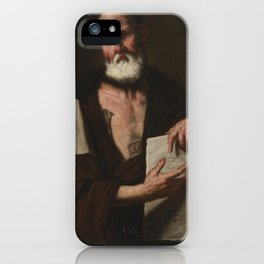 Luca Giordano, portrait of a man iPhone Case