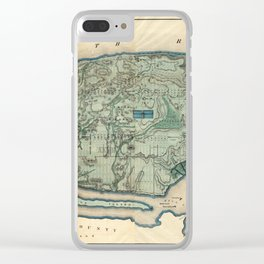 Egbert Viele 1865 Topographic Map of New York City Clear iPhone Case