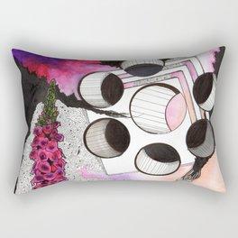 trumpet flowers  Rectangular Pillow
