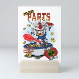 golden part rx 78 Cereal Mini Art Print