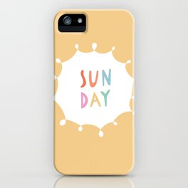 Sunday in Yellow iPhone Case