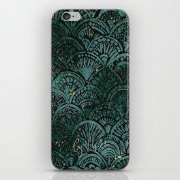 Moody Mermaid - Teal Black Sparkle iPhone Skin