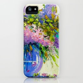 Bouquet of lilac iPhone Case