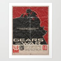gears of war Art Prints featuring Gears of War by Evan DeCiren