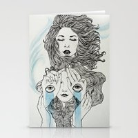 sisters Stationery Cards featuring Sisters by Katastrofe