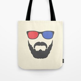 3D beard Tote Bag