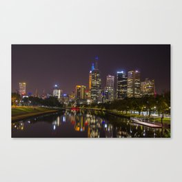 Melbourne City @ Night Canvas Print