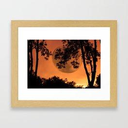 Orange Evening - JUSTART © Framed Art Print