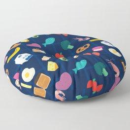 Groceries Floor Pillow
