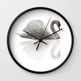 Geometric Swan Wall Clock