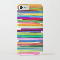 neon genesis evangelion iPhone & iPod Cases featuring Colorful Stripes 1 by Mareike Böhmer