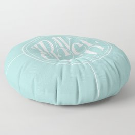 Travel with Teal Floor Pillow