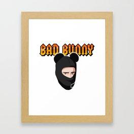 Bad Bunny Cuidao por ahi Framed Art Print