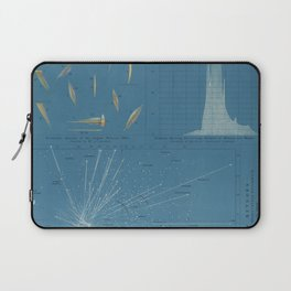 Vintage Meteor Diagram (1869) Laptop Sleeve