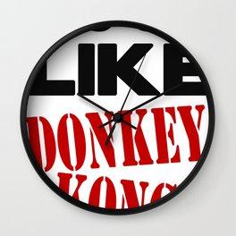 It's On Like Donkey Kong!! Wall Clock