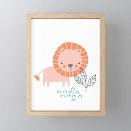Little Leo Framed Mini Art Print