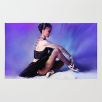 ballerina Area & Throw Rugs featuring Ballerina by Valérie Loetscher (Vay)