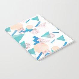 90's Pastel Geometric Pattern Notebook