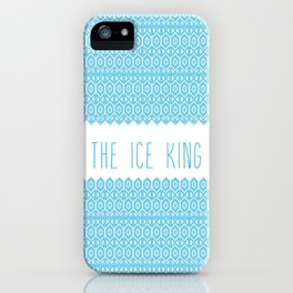 the ice king pattern...mathamatical! iPhone Case