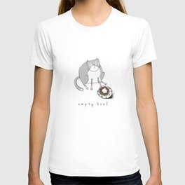 Cat-Empty Bowl T-shirt
