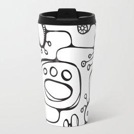 Orbs N Lines - Scribbles 02 Travel Mug