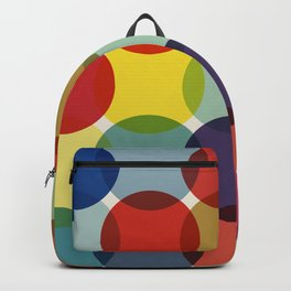 Retro Colored Dots Backpack