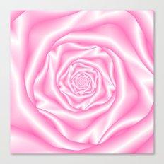 Pale Pink Spiral Rose Canvas Print
