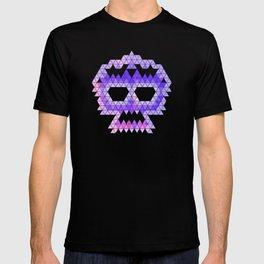Punk Triangle Skull - Purple T-shirt