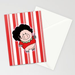 Candy Canes and Ugly Christmas Sweaters Stationery Cards