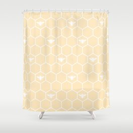 Honey Bee Mine Shower Curtain