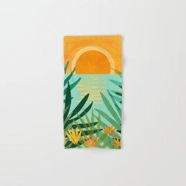 Peaceful Tropics / Sunset Landscape Hand & Bath Towel