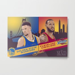 NBA FINALS Metal Print