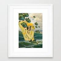 mermaid Framed Art Prints featuring MERMAID by Julia Lillard Art