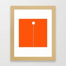 One Ball Hanging Framed Art Print