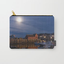 Rockport Harbor at night Carry-All Pouch