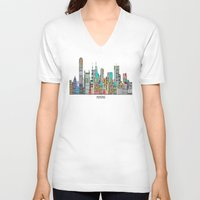 memphis V-neck T-shirts featuring Memphis city by bri.buckley