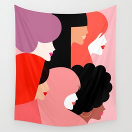 Girl Power we persist  #girlpower Wall Tapestry