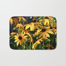 Black and Yellow. Bath Mat