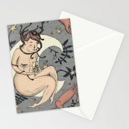 The Girl in the Moon Stationery Cards